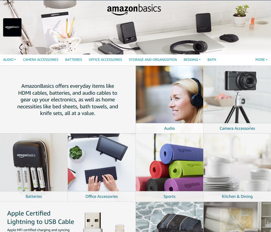 Amazon Brand Store Design